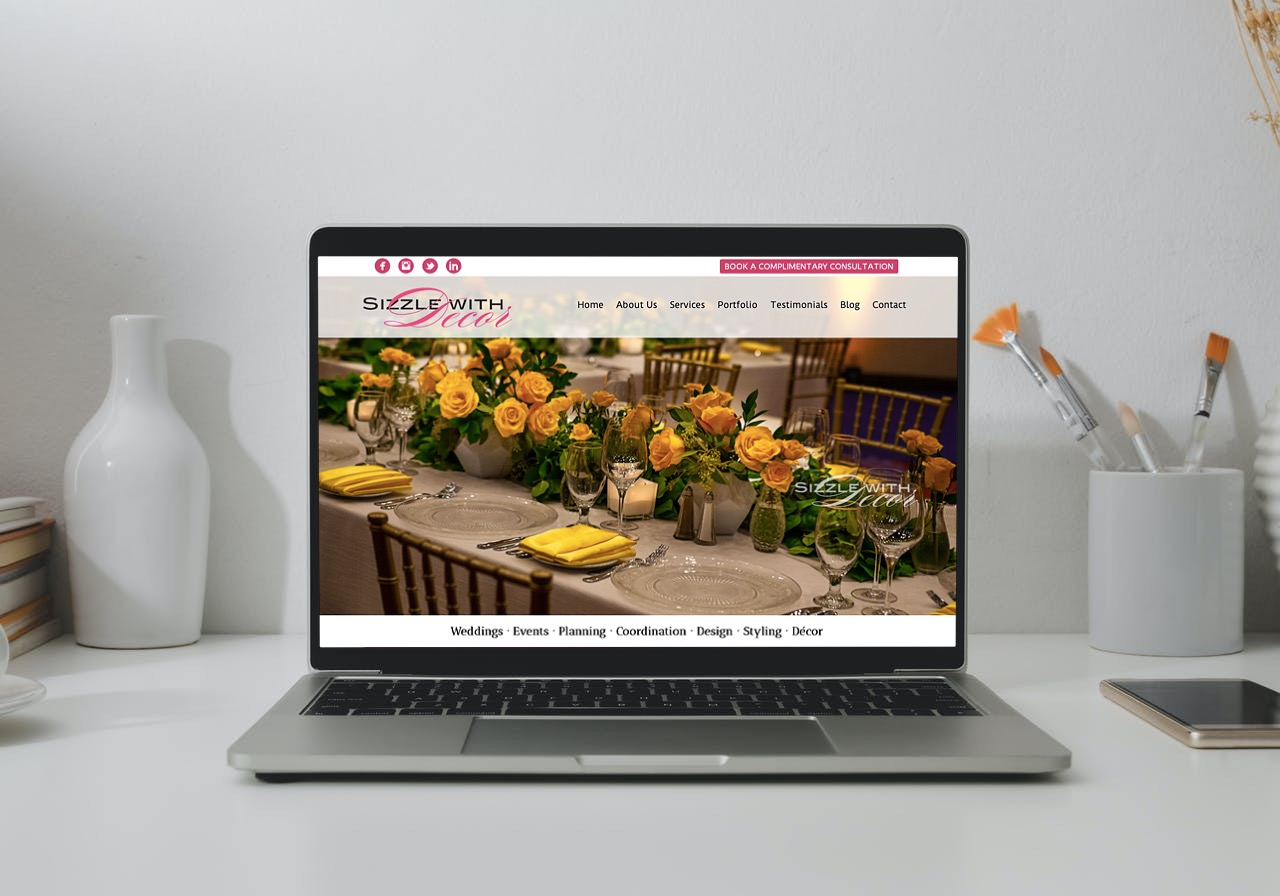Sizzle with Decor Website