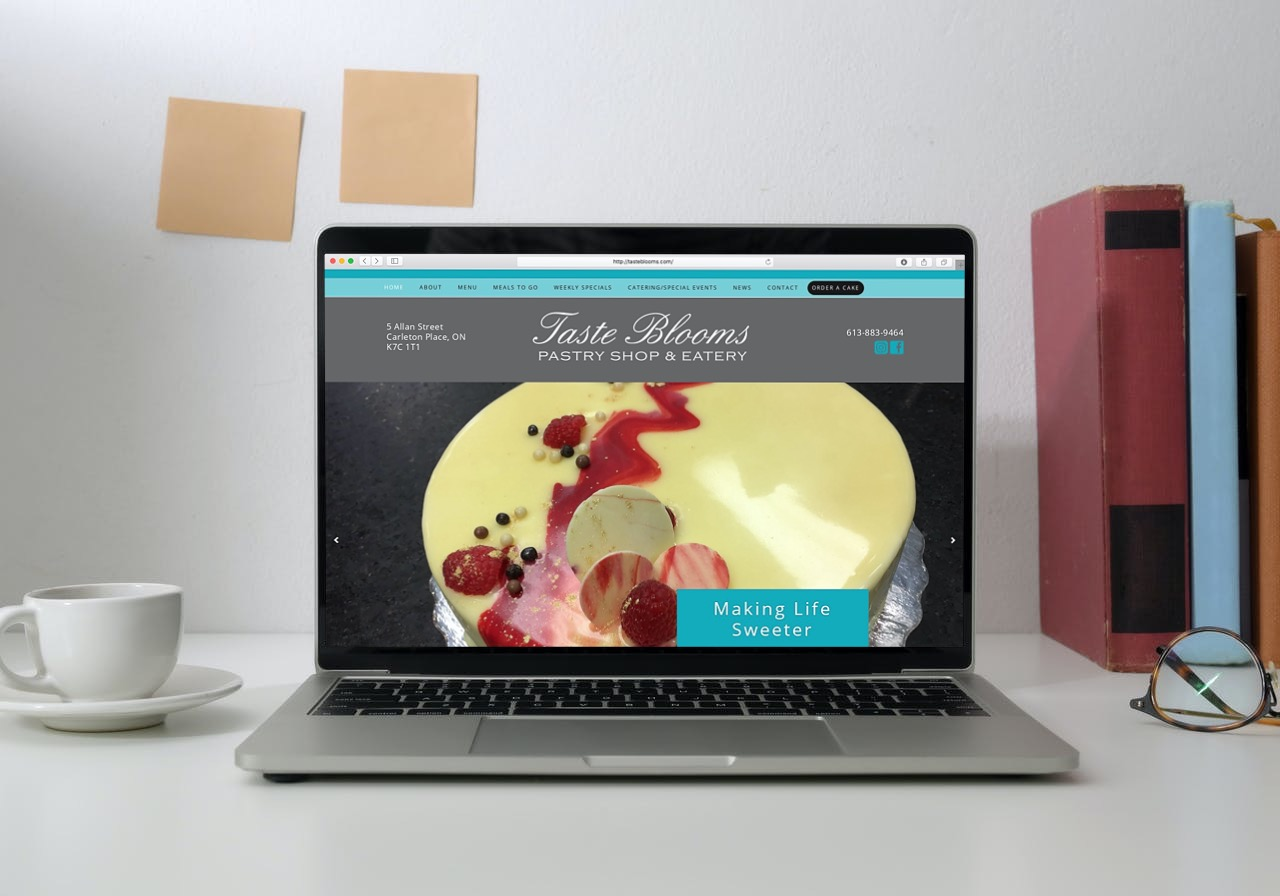 Taste Blooms Website