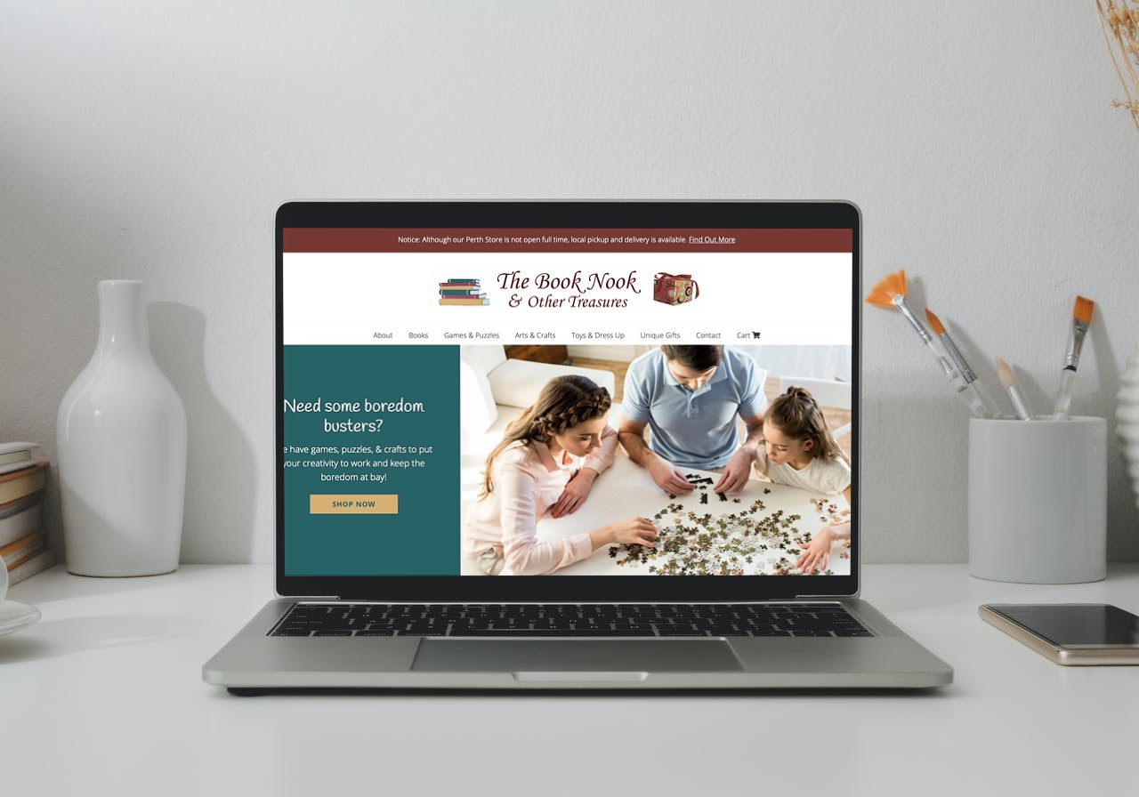 The Book Nook Website